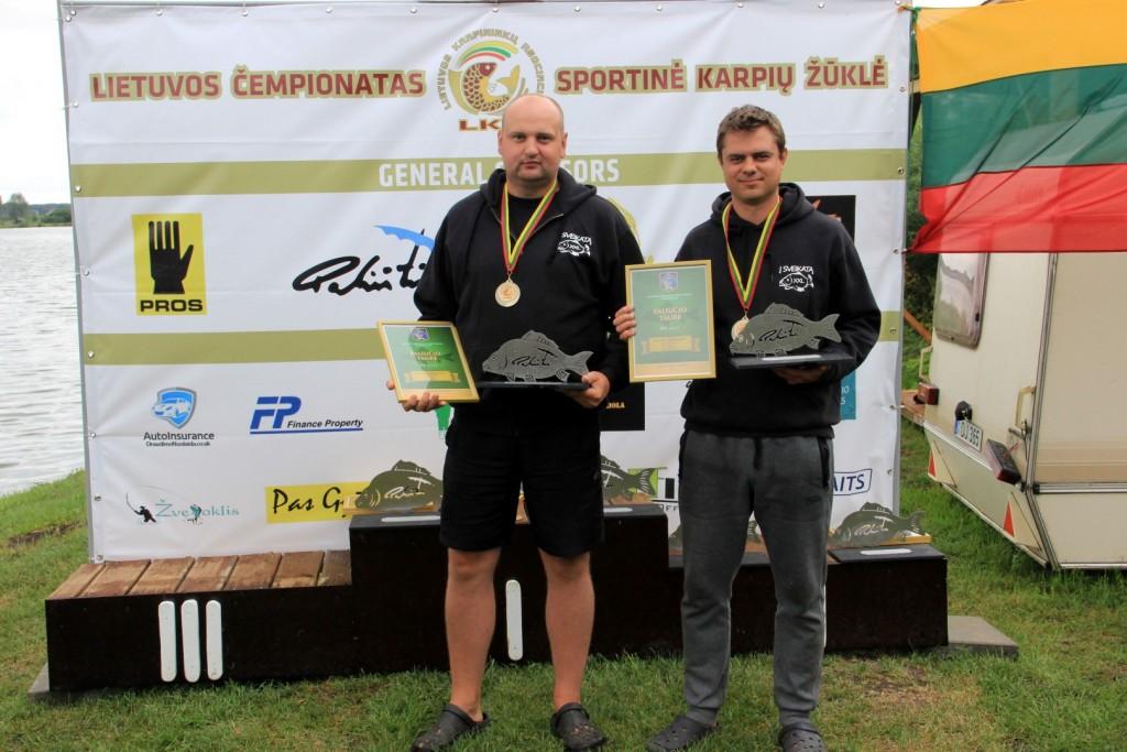 """Komanda ,,Į sveikatą XXL"""" Sergej Nikolajenkov ir Marius Budas"""