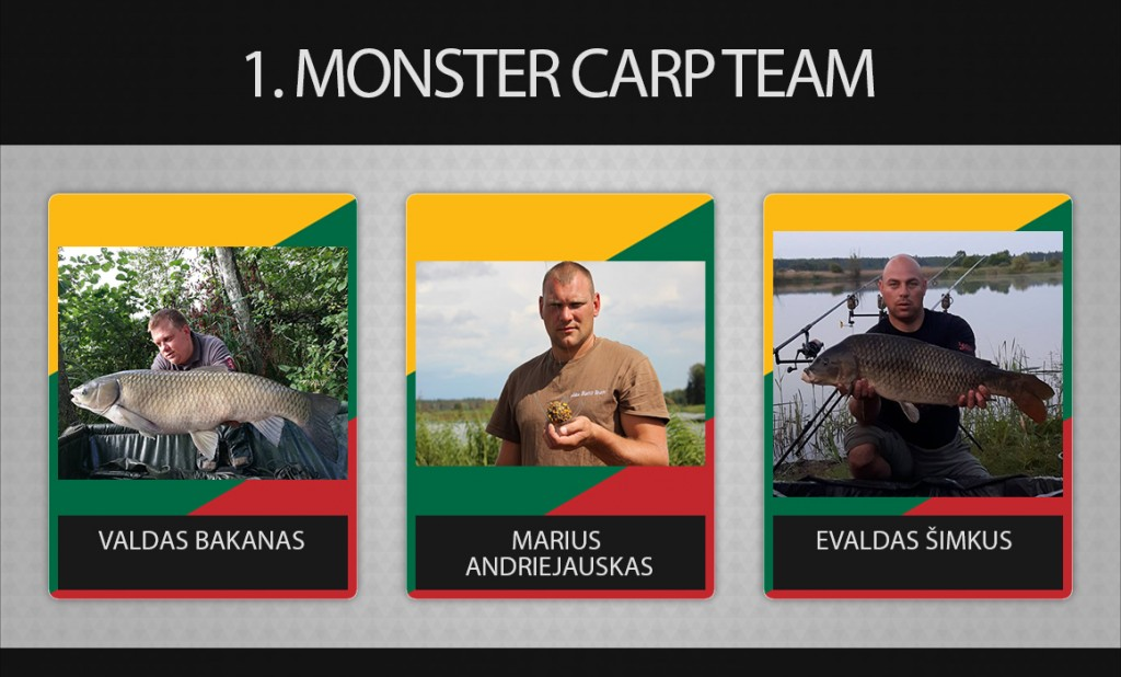 1 komanda monster carp