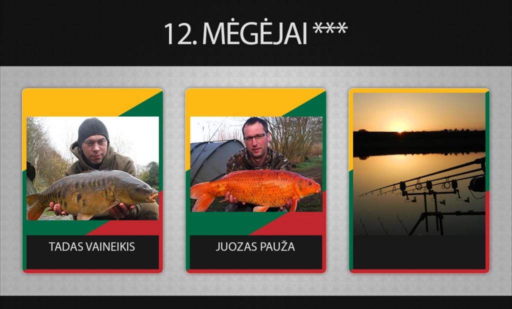 12 komanda megejai