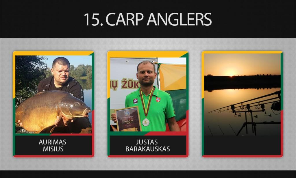 15 komanda carp anglers