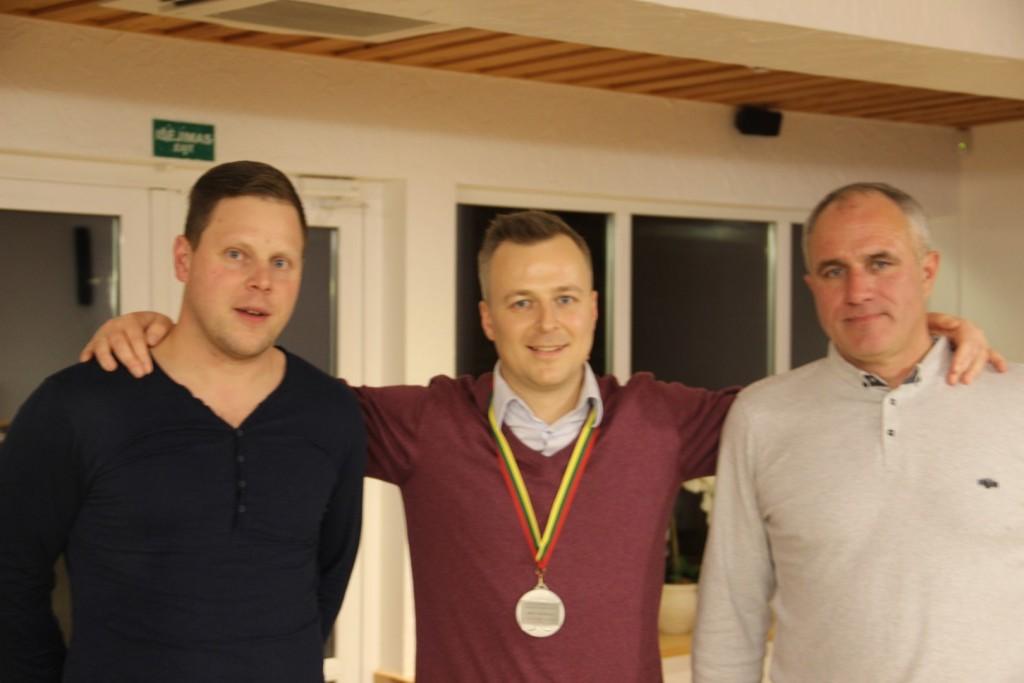 Su medaliu Tomas Pocius.