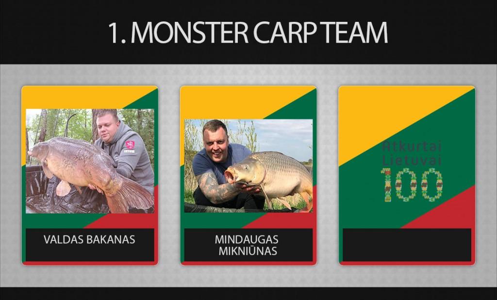 1 komanda monster carp teama