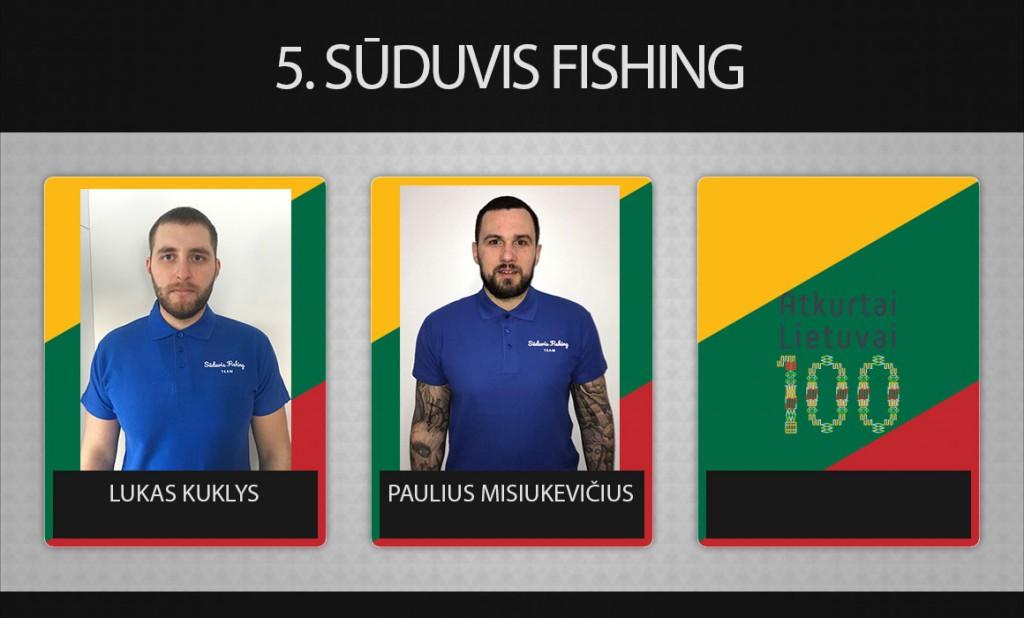 5 komanda Sūduvis Fishing