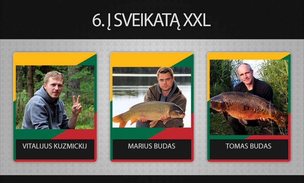 6 komanda Į Sveikatą XXL