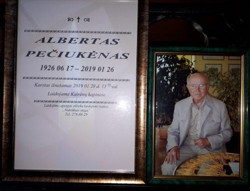 Albertas Pečiukėnas 1926 06 17 – 2019 01 26