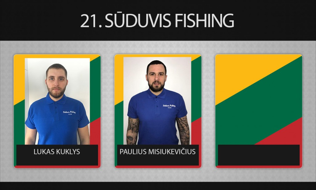 21 komanda Sūduvis Fishing