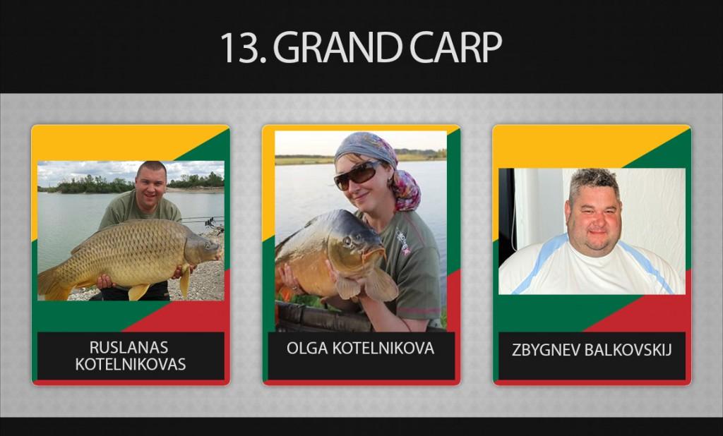 13 komanda Grand Carp