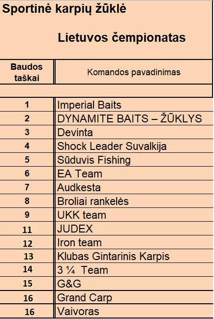 Baudos taskai 2019 po I etapo